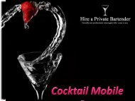Cocktail Mobile Bar – We Serve At Your Place