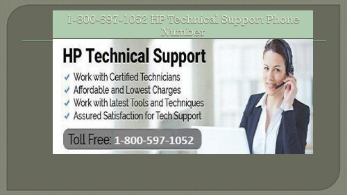 1-800-597-1052 HP Technical Support Phone Number