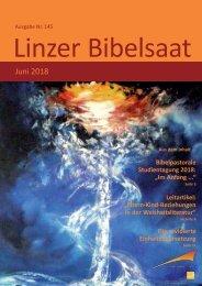 Linzer Bibelsaat (Ausgabe Nr. 145, Juni 2018)