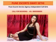 Pune Call Girls Escorts Services www.swatisethi.com