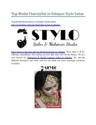 Top Bridal Hairstylist in Udaipur Stylo Salon