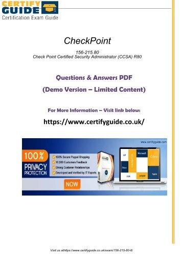 156-215.80 Real PDF Exam Material 2018