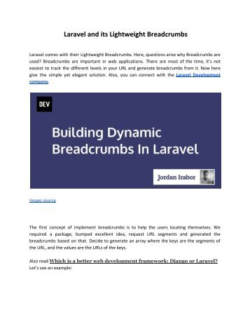 Laravel and its Lightweight Breadcrumbs
