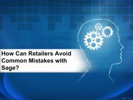 How can retailers avoid common mistakes with Sage (1)