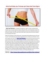 Keto Fuel Makes your weight loss process straightforward and fast