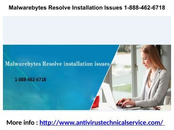 Malwarebytes Resolve Installation Issues 1-888-462-6718