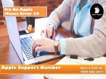 Fix An Apple iTunes Error 29 Call 1800-582-2431
