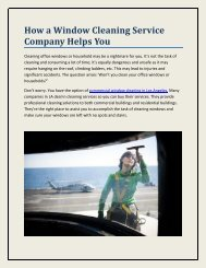 How a Window Cleaning Service Company Helps You