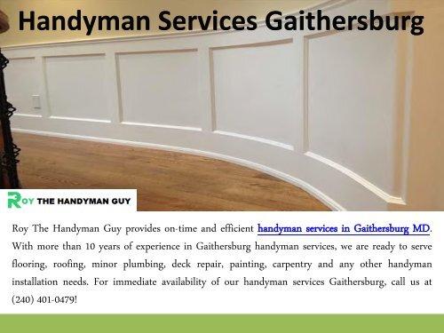 Handyman Services Gaithersburg