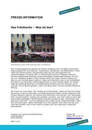 PRESSE-INFORMATION Das Fränkische - Congress- und ...