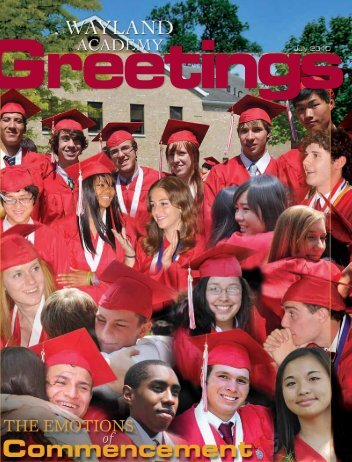 Greetings July 2010 - Wayland Academy