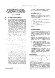 Richtlinie des Ministeriums für Wirtschaft über die ... - Brandenburg.de