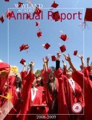 2008-2009 Annual Report - Wayland Academy