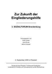 Eingliederungshilfen im Blickwinkel - Brandenburg.de