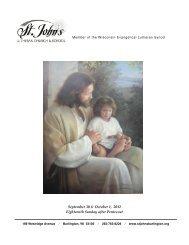 12,0930 liturgy - St. John's Lutheran Church, Burlington, Wisconsin