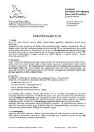Ulotka informacyjna Grypa - Brandenburg.de