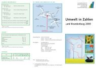 Umwelt in Zahlen Land Brandenburg 2005 - Brandenburg.de