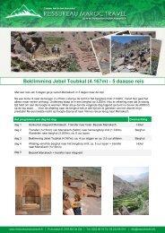 Beklimming Jebel Toubkal (4.167m) - 5 daagse reis - Maroc Travel