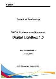 DICOM Conformance Statement Digital Lightbox 1.0 - Brainlab