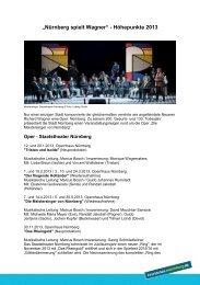 Nürnberg spielt Wagner - Congress- und Tourismus-Zentrale ...
