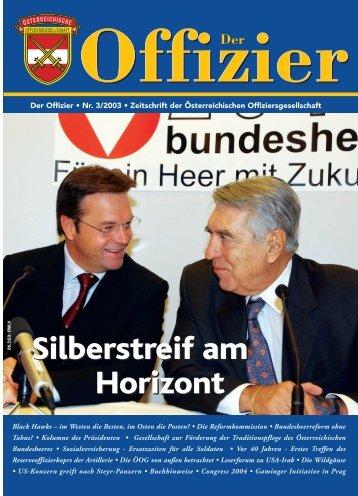 Der Offizier 3/03 - Die Österreichische Offiziersgesellschaft