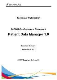DICOM Conformance Statement Patient Data Manager 1.0 - Brainlab