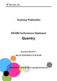 DICOM Conformance Statement Quentry 1.0 - Brainlab