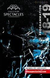 Ville d'Alma SPECTACLES - brochure de saison 2018-2019