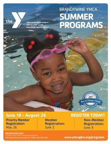 Brandywine YMCA - Summer Program Guide 2018