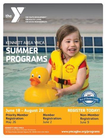 Kennett Area YMCA - Summer Program Guide 2018