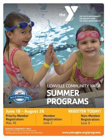 Lionville Community YMCA - Summer Program Guide 2018