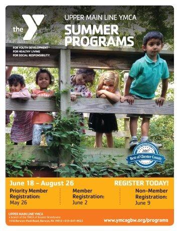 Upper Main Line YMCA - Summer Program Guide 2018