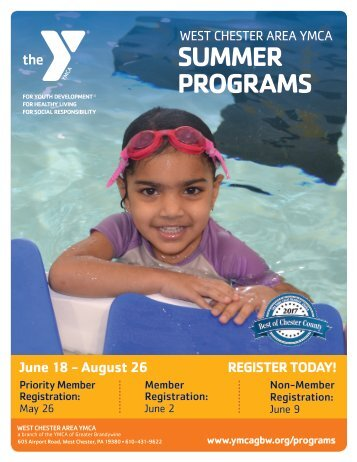 West Chester Area YMCA - Summer Program Guide 2018