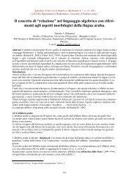"""Il concetto di """"relazione"""" - Dipartimento di Matematica e Informatica"""