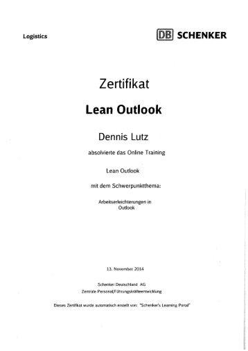5. Lean Outlook
