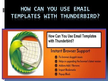 How Can You Use Email Templates with Thunderbird?
