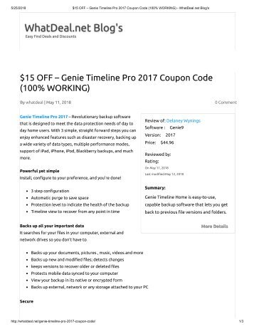2017 island living coupon book 15 off genie timeline pro 2017 coupon code 100 working fandeluxe Images