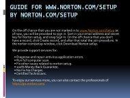 Learn how to install norton.com/setup