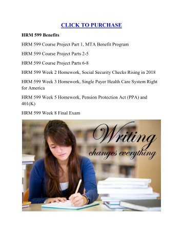HRM 599 Benefits