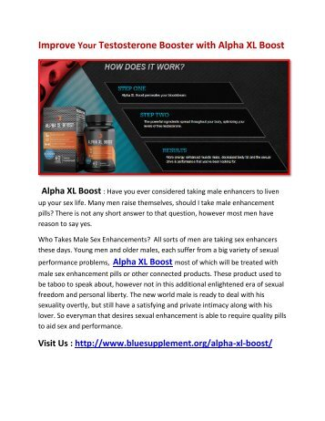 Alpha XL Boost will help you to Enhance Your Mental & Sexual Performance