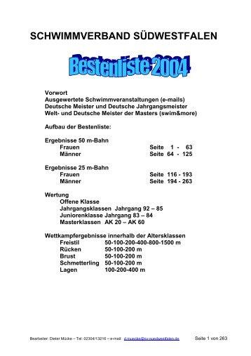 und Junioren- Meisterschaften Deutsche Jahrgangsmeisterschaften