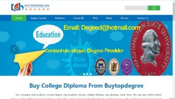 How to buy a fake diploma online.Buy Diploma@www.buytopdegree.com