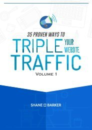 35 Proven Ways to Triple Your Traffic