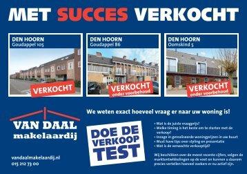 Van Daal makelaardij, succesvol verkocht in Den Hoorn