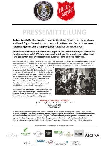Pressemitteilung Barber Angels_Zürich Juni 2018
