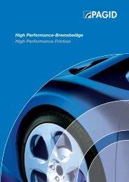 High Performance-Bremsbeläge High ... - AC Commercials