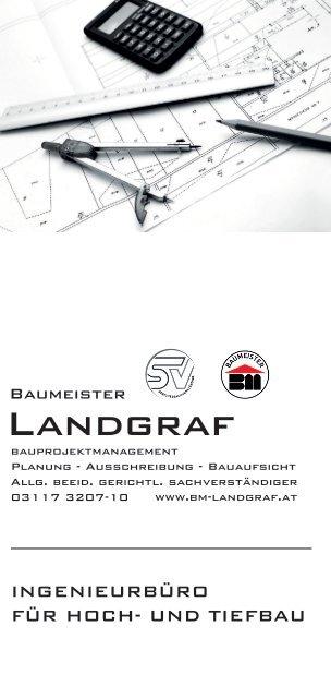 Baumeister Landgraf Unternehmensfolder