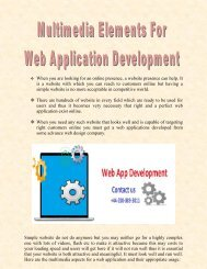 Multimedia Elements For Web Application Development