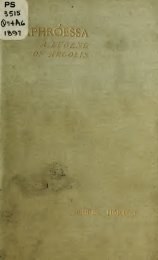 APHROESSA , A LEGEND OF ARGOLIS AND OTHER POEMS -George Horton