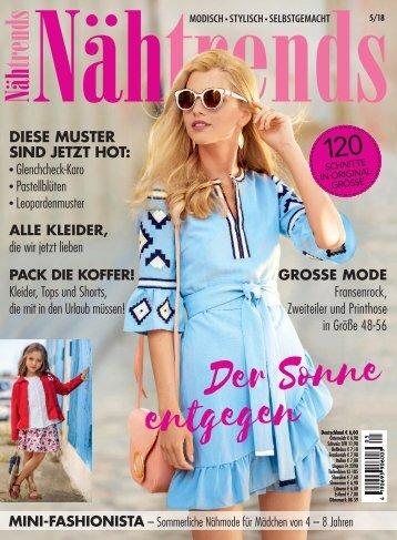 Nähtrends 5/2018 - Blick ins Heft